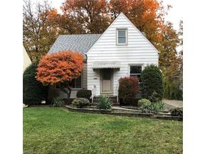 Property for sale at 1107 Churchill Road, Lyndhurst,  Ohio 44124
